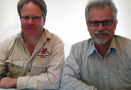 ROC Director Adrian Azzari Colley and SMC Group Director David Canning